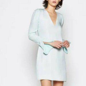Joie Mint Long Sleeve V-Neck Silk Dress  | size 0
